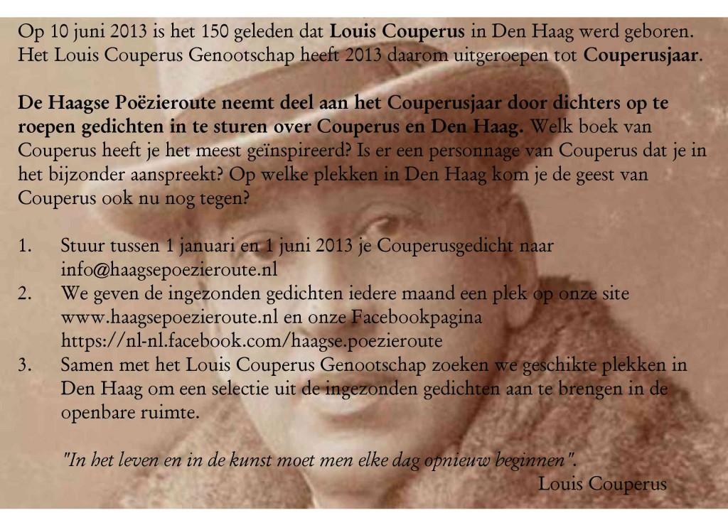 Tzum Nieuws Oproep Om Gedicht Over Louis Couperus Te