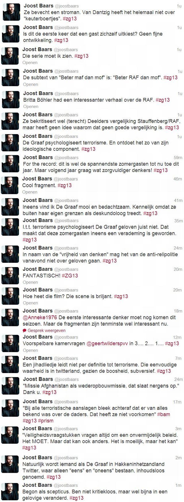 joost Baars over Beatrice de Graaf