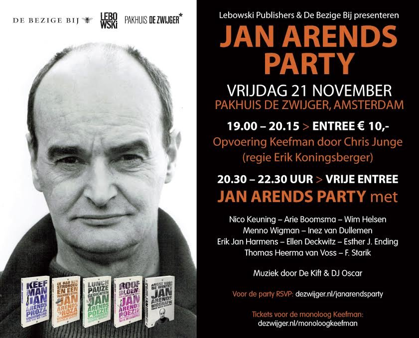 jan arends party def flyer