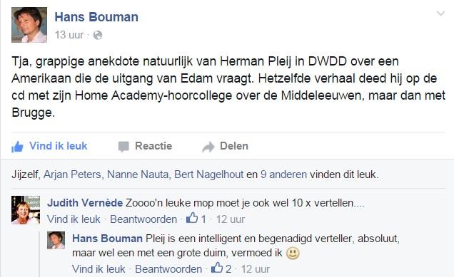 Herman Pleij valt in herhaling