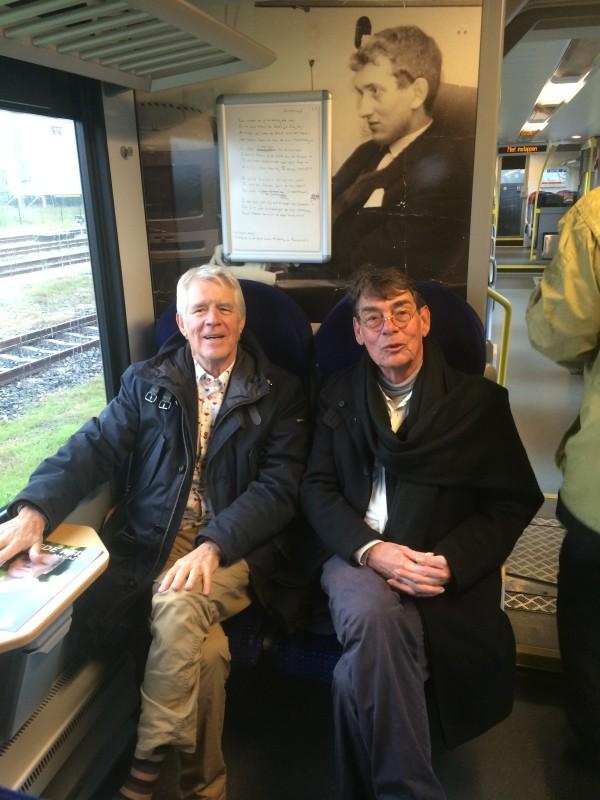 Van Kooten en Hofman in de trein