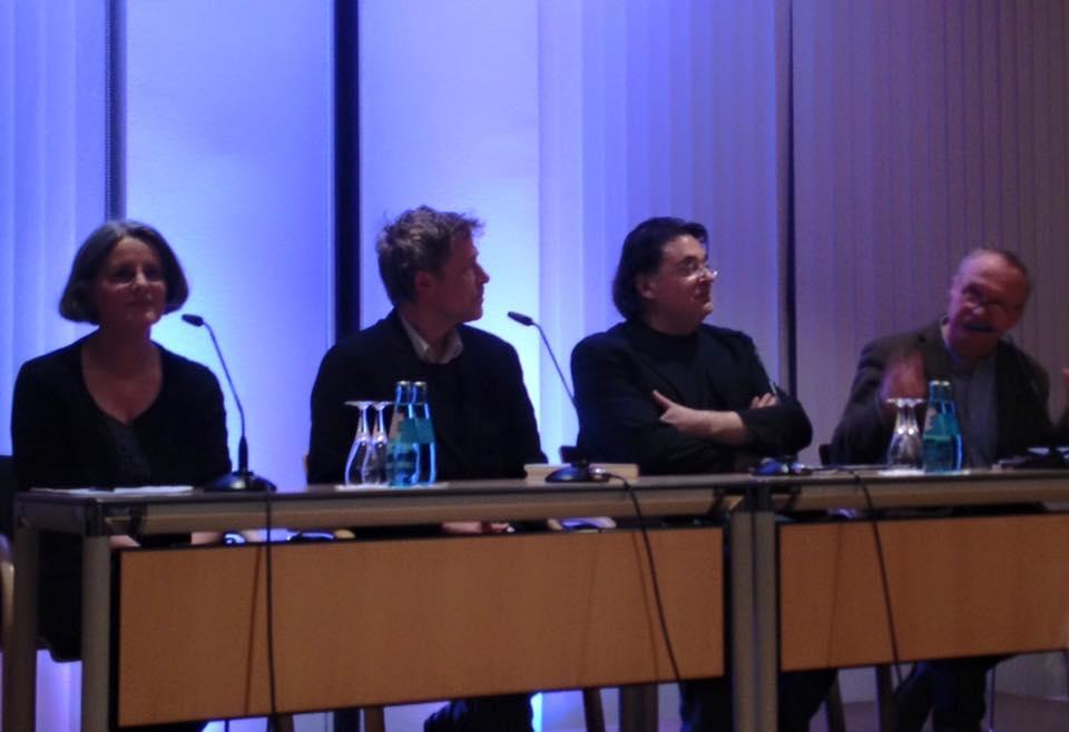 Arne Braun, Yves Petry, Leon de Winter en Tilmann Bünz