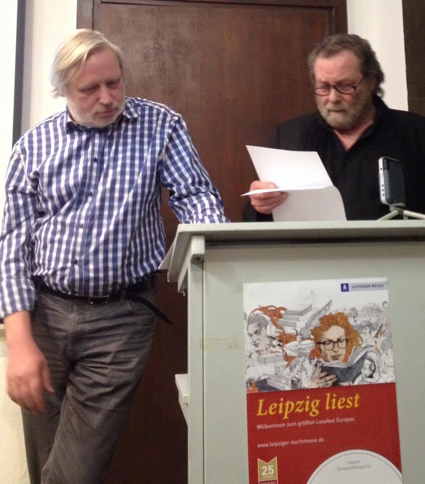 Ulrich Faure en Wolfgang Schiffer lezen samen voor