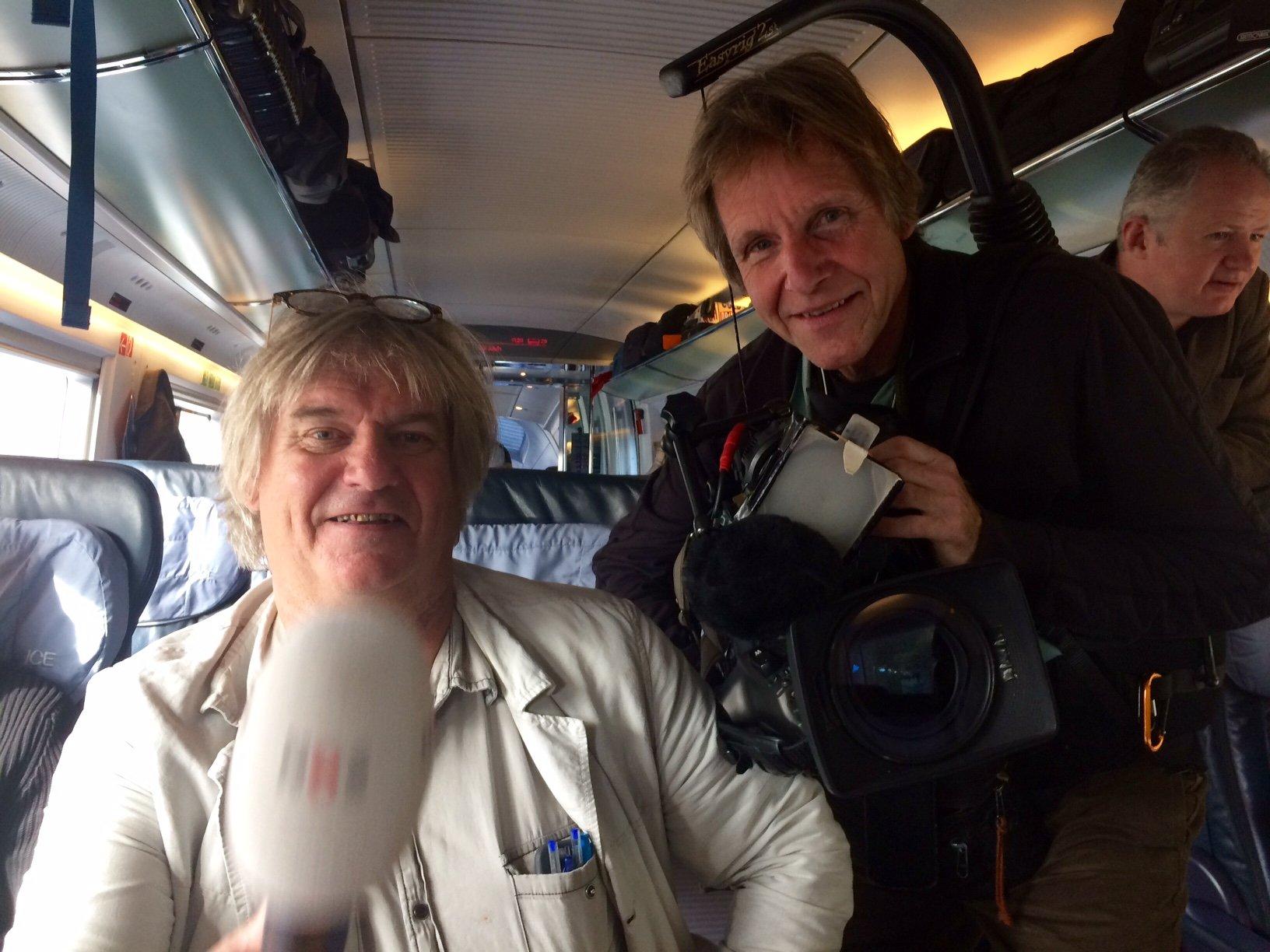 Het NOS journaal komt filmen tussen Utrecht en Arnhem